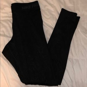 light fleece lined Nike leggings full length